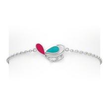 Multi cor 925 bracelete de prata e jóias borboleta bracelete baixo MOQ (kt3505)