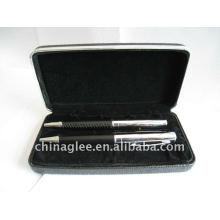 conjunto de caneta de couro exclusivo