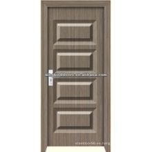 PVC rodado MDF madera puerta JKD-M689 para uso Interior