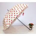 Auto Open Strawberry Printing Straight Lady Umbrella (BD-62)