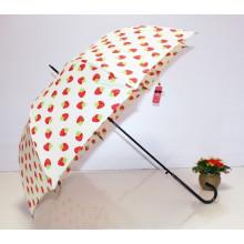 Auto abierto Fresa impresión Straight Lady Umbrella (BD-62)