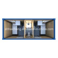 Dormitorio de contenedor con WC y cabina de ducha para dos personas (shs-fp-dormitory017)