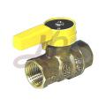 Bronze gas ball valve with zinc alloy handle
