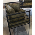 Metal Frame Fabric Leather Seat Couch Restaurant Furniture