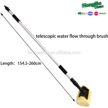 water flow car brush with telescopic flow-through brush car wash brush