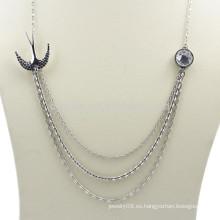 Collar acodado plata del metal de la joyería de encargo