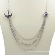 Пользовательские ювелирные изделия Металл Серебряный слоистых ожерелье