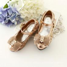 Novas meninas do bebê sapatos de cristal crianças meninas de festa de ouro sandálias espumantes para anjo princesa preço de atacado
