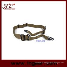 Bungee tactique sangle deux Point corde sangle crochet ceinture fusil Sling