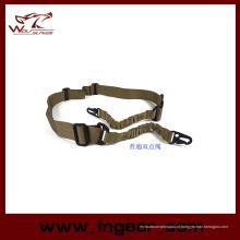 Tactical Bungee cinta dois ponto corda correia gancho correia Rifle Sling