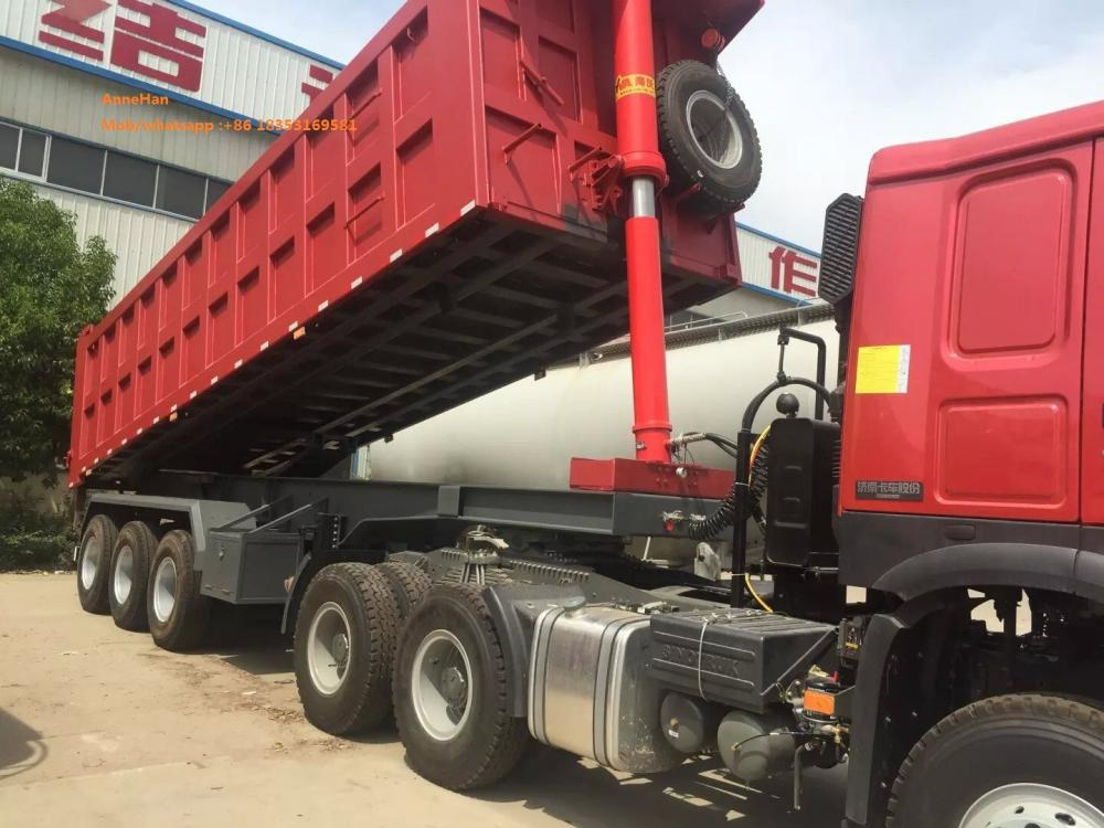 3 gandar side dumper trailer
