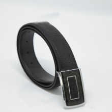 ODM for Mens Jean Belt Men's Cowhide Leather Belt With Square Plate Buckle export to Syrian Arab Republic Wholesale
