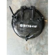 Puerta de caldera de hierro fundido resistente al calor para la venta