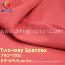 190t Polyester Spandex Dyeing Fabric for Fashion Garment (GLLML238)
