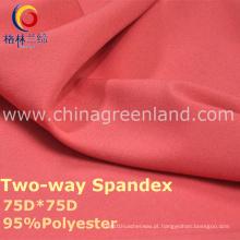 Tela de tingidura do Spandex do poliéster 190t para o vestuário da forma (GLLML238)