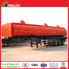 Fuel Oil tankers chimiques Semi remorque de camion 3 essieux 45000liters