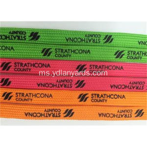 Custom Shoelaces Dengan Silk Screen Printing Silk