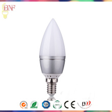 Solar C37 LED Glass Candle Factort Daylight E14/E12 Bulb 4W