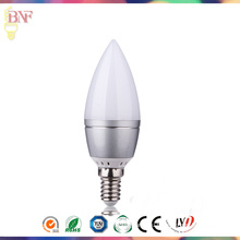 Солнечные С37 светодиодная стекло Свеча Factort дневного света Е14/Е12 Лампа 4W