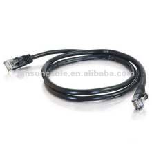 15ft-black-standard boot-UTP Cat5e cable 4 pair
