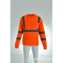 Hi Viz Workwear Reflective Long Sleeve ANSI Safety Shirt