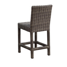 Garden Wicker Patio Furniture Outdoor Rattan Bar Stool Chair