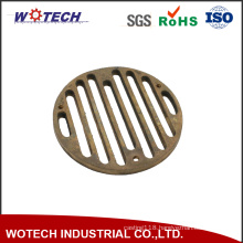 OEM Sand Casting Copper Floor Drain with CNC Machining