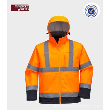 Großhandel China Factory Direct Bike Sicherheit Jacke Männer hohe Qualität reflektierende Softshell-Jacke
