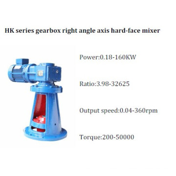 HK Series Gearbox Right Angle Axis Hard-Face Gear Mixer