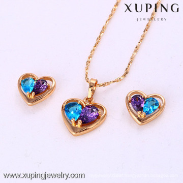 61971-Xuping Wholesale Imitation Jewelry Woman Jewelry Set with 18K Gold Plated
