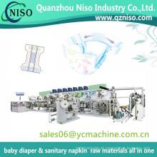 Full Servo Control Proteção-Vazamento Elástico Banda Máquina De Fraldas Do Bebê Máquina Fralda Do Bebê Que Faz A Máquina