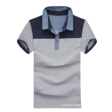High Quality Stiff Collar Grey Cotton Plain Polo Shirts