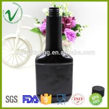 Высококачественная плоская черная пустая ПЭТ-пластиковая бутылка с моторным маслом 350 мл для промышленности