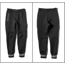 Space Cotton Pantalones Pockets Zip Ankle Banded Pantalones
