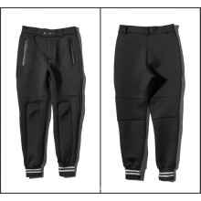 Space Cotton Pants Pockets Zip Ankle Banded Pants