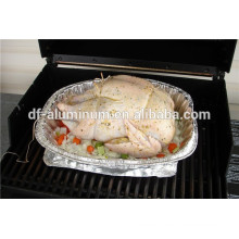 Bandeja de horno de pollo de aluminio grande desechable de grado alimenticio