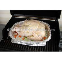 Food Grade Disposable Large Aluminum Foil Chicken Roasting Pan