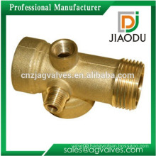 china manufacturer competitive price best sale 5 way forged npt brass male threaded pump fitting