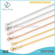 Différents types de collier en or, bijoux, créations filles, collier germanium en acier inoxydable