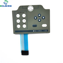 Blue cable connctor white light icon membrane switch