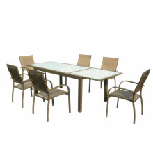 OEM Manufacturer for Outdoor Patio Furniture Aluminum Extendable dining table with tempered glass supply to Syrian Arab Republic Suppliers