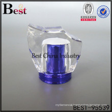 new design decorative blue surlyn perfume cap lid
