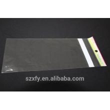 Bolsa de plástico OPP transparente com cabeçalho impresso