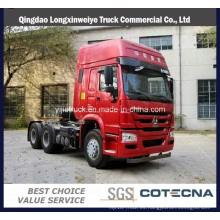 Camión del tractor de la cabina 420HP Hw76 del camión del tractor de HOWO,