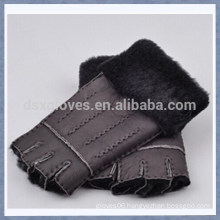 OEM Winter Half Finger Sheepskin Fur Glove