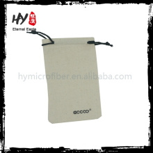 Customized deign new fashionable canvas drawstring pouches with high quality