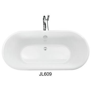 Keine Schürze Eck-Acryl Errichtet in der ovalen Badewanne (JL609)