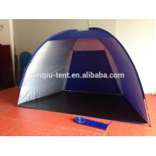 Outdoor children playing big camping tent