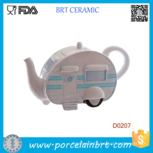 Novelty Ceramic Caravan Teapot Christmas Novelty Gift