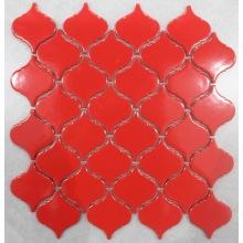 Projeto de lanterna de cor vermelha Mosaico de porcelana